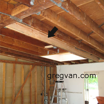 Adding Rafter To Skylight Framing