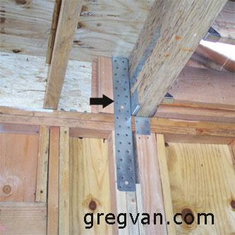 Between Floor Shear Wall Strap