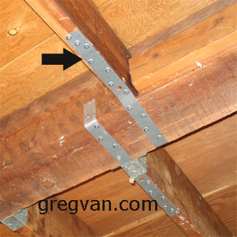 Bottom Of Rafter To Ridge Strap