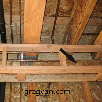 Plywood Draft Stop In Soffit