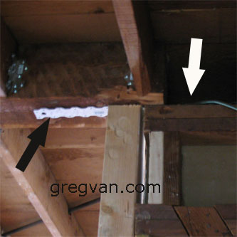 Strap Connecting Ridge Beam To Top Plates