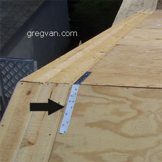 Roof Ridge Strap Framing Hardware For Home Building