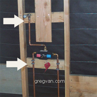 Shower Valve Backing Bathroom Wood Framing Ideas
